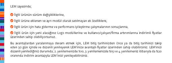 logo lem ücreti,logo lem yenileme,lisans bakım ücreti
